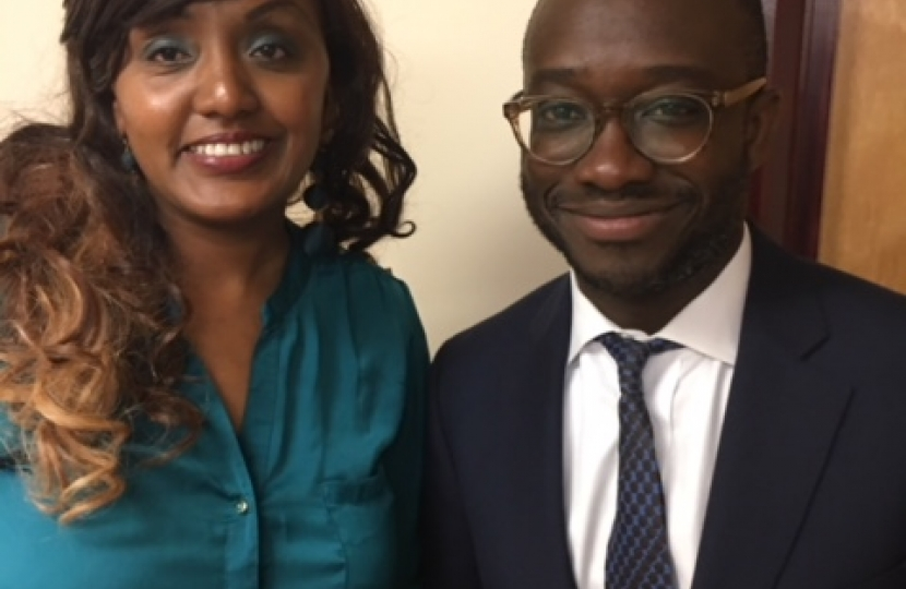 Sam Gyimah and June Kuria